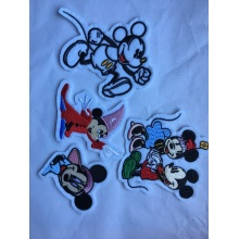 Animal bordado lantejoulas peles remendo de Mickey Mouse