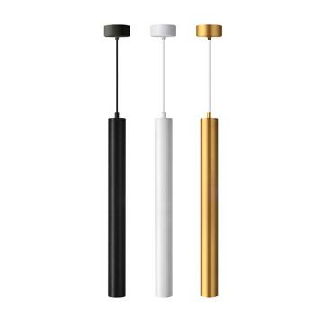 Lampe suspension cylindrique en aluminium linéaire