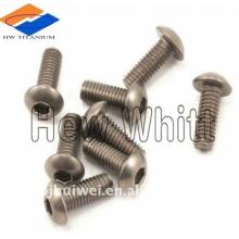 Ti6AI4V titanium botão cabeça parafuso com torx
