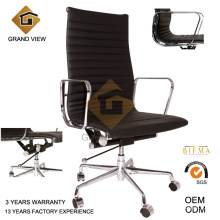 Silla ejecutiva negra cuero giratorio Gerente jefe oficina (GV-EA119)