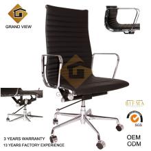 Cadeira executiva preta couro giratória gerente chefe escritório (GV-EA119)