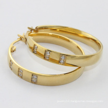 alibaba china supplier,2014 stainless steel hoop earring with crystal , fashion jewelry