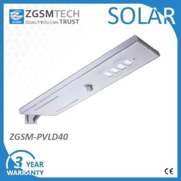 Réverbères solaires intégrés de 40W LED avec le mode économiseur d'énergie