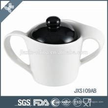 China de lujo de la marca de China de la porcelana de Wholesle marca el pote de cerámica del azúcar
