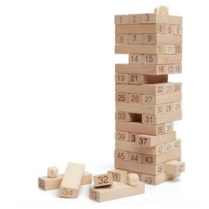 Wooden Domino Building Blocks Wooden Toy with Dice
