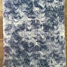 tissu patchwork de maille, 100 % polyester tissu imprimé pour manteau d'hiver