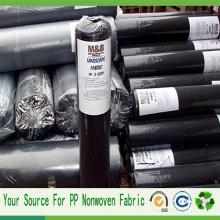 Tissu non-tissé de contrôle de Weed de tissu noir agricole de pp