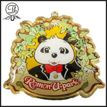 Epoxy gold Bear chaveiro de charme para homem
