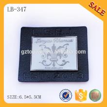 LB347 Washable Jacket leather logo patch label