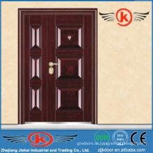 JK-S9208B Luxus-Front-Stahl-Teilung Gebäude Eintrag sicher Stahl Design Tür