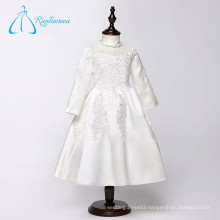 Tea Length Long Sleeve Lace Appliques Elegant Flower Girl Dresses