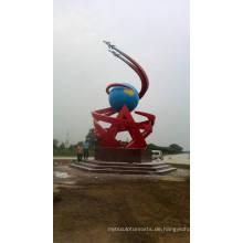 Moderne große Kunst Abstrakte Edelstahl Skulptur für Outdoor Dekoration