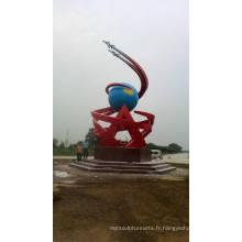 Modern Grand Arts Résumé Sculpture en acier inoxydable pour décoration extérieure