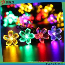 Luces de hadas de hadas de flor solar impermeable
