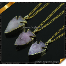 Direct Wholesale Druzy Agate Quartz Druzy Stone Pendant Necklace High Quality (CN014)