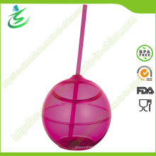 500 Ml als Ball-Form Acryl Cup mit Stroh (TB-A5)