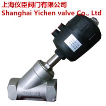 Vanne à siège soupape en acier inoxydable 304/316 fil incliné pneumatique