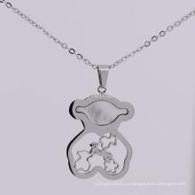 Модный оптовая продажа из нержавеющей стали твердого серебра косолапый подвески для цепи ожерелье