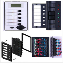Aluminium Plate&Glass Fuse&Dual USB/LED Waterproof Combined Switch/Switch Panel
