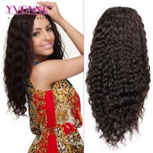 100% perruque de cheveux humains vague profonde Lace Front Wig