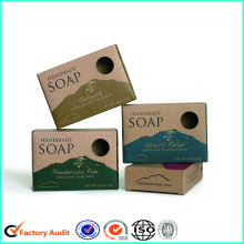 Kraft+Paper+Handmade+Soap+Packaging+Box+Printed