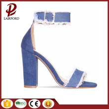 new style simple women jeans sandals summer
