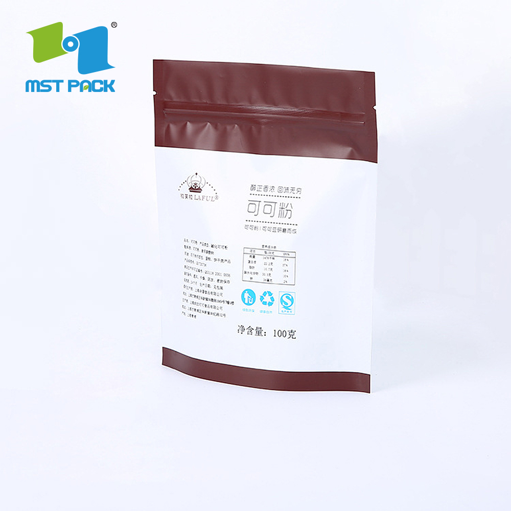 High Quality Stand Up Matt Finished Coffee Biodegradable Bag