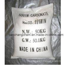 Produits chimiques industriels 99,2% Soda cendrée (dense ou légère)