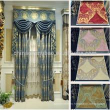Últimos diseños de cortinas de ventana de estilo chino en lujo