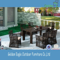 Accent Simple Design Rattan Dining Table Set