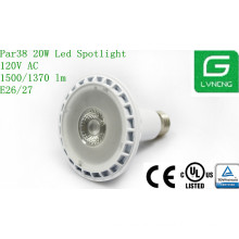 hot new products for 2014 White housing cob led spotlight 20w LED PAR38 bulbs E27 with CE,UL approval