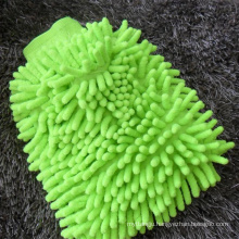 Factory sell microfiber cleaning glove for car washing customized