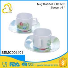 Garantia de qualidade preço venda direta define pires xícara de chá melamina