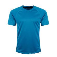 Venta caliente de diferentes colores últimos diseños fitness sublimación camiseta barata en blanco