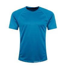 Venda quente diferente cor mais recente projetos de sublimação de fitness barato t-shirt em branco