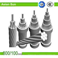 Надземный чуть-чуть проводник мкм Алюминиевый проводник усиленная сталь проводника acsr