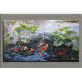 Современная ручная живопись живопись рыбы живопись на холсте (AN-066)