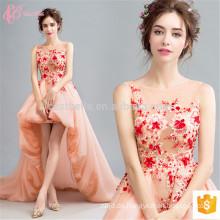 Vibrant Orange Elegant für Frauen Thai Silk Abendkleid