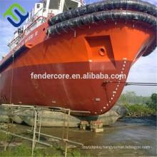 Ship launching balloon rubber airbag floating pontoon