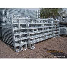 Panneaux de jardin de chevaux portables à tuyaux galvanisés