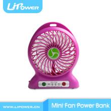 2015 Regalo especial de Navidad Mini banco de energía del ventilador del USB para el teléfono móvil