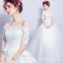 Robe De Mariage 2017 style nouveau style Blanc / Ivoire plus taille maxi 1/2 Robe de mariée en dentelle MW2204
