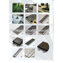 Rejilla de drenaje de zanja, cubierta de drenaje, cubierta de zanja, cubierta de rieles, sistema de drenaje
