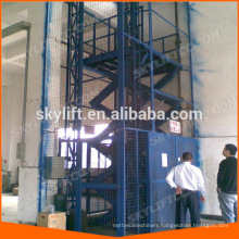 hydraulic guide roller rail goods lift