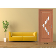 Top Design PVC Doors, HDF Wooden Glass Doors (SC-P057)