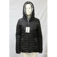 2014 Ladies New Style Zipper Warm Coat with Hoody (AH-GS262M)