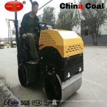 Chine 1.3t tour hydraulique sur le double compacteur vibratoire de rouleau de route