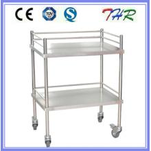Carro de tratamiento de acero inoxidable del hospital (THR-MT240)