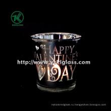 Цвет Двойная стеклянная чашка для свечей от BV (5.7 * 7.5 * 7.5)