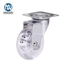 Roulette transparente de chaise de bureau de roue d'unité centrale de 3 pouces